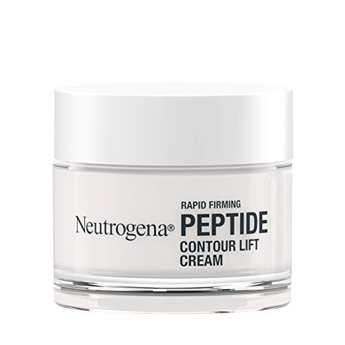 Neutrogena Rapid Firming Peptide Contour Lift Face Cream, Moisturizing Daily Facial Cream to visibly firm & lift skin plus smooth the look of wrinkles, Mineral Oil- & Dye-Free, neutral, 1.7 Fl Oz