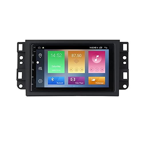 per Chevrolet Lova Captiva Gentra Aveo Epica 2006-2011GPS Stereo Android 9 Lettore MP5 multimediale, Supporto FM Vivavoce Bluetooth SWC+ Telecamera Posteriore,M500 4+64g