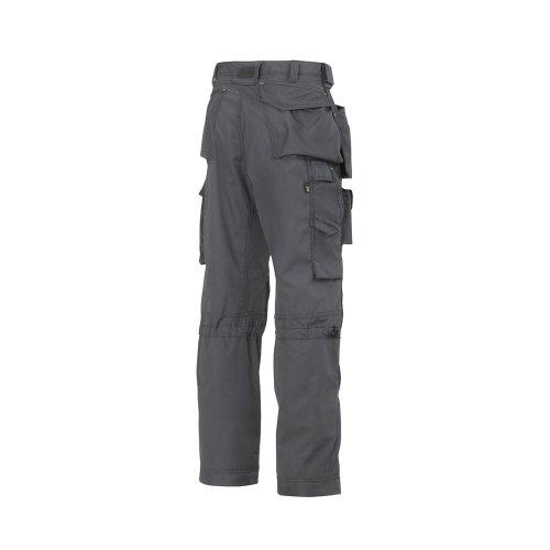 Snickers 32235804052, Floor Layer Trousers - Steel Grey/Black ,52, Reg 52 (W36 L32)