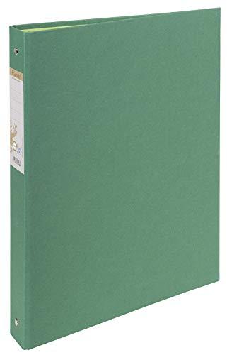 Exacompta 54983E Ringbuch (aus recycling Karton, Rückenbreite 40 mm, DIN A4, 21 x 29,7 cm) dunkelgrün