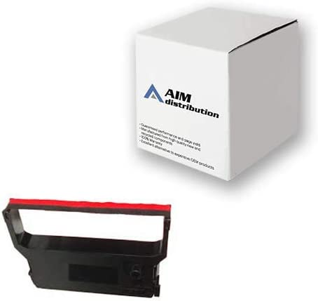 AIM Compatible Replacement for Verifone 900/950 Black/Red P.O.S. Printer Ribbons (6/PK) (CRM 0023-01) - Generic