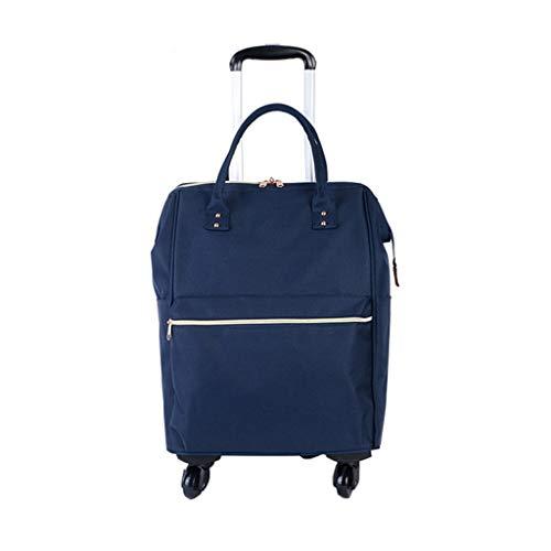 Nosterappou Bolsa de viaje portátil lista para usar, diseño ergonómico de mano cómodo, tela oxford duradera, correa para el hombro oculta en la capa trasera, elegante y universal carrito de ruedas, bo