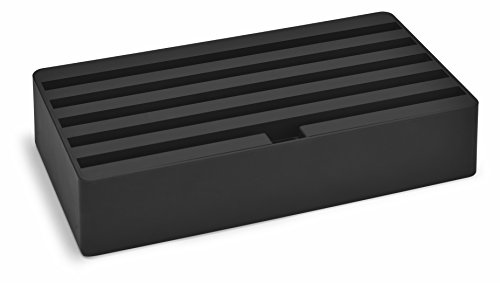 All-Dock laadstation - Small - Universal Shell+Top, AllDock Large zwart/mat rubber, 6fach USB Hub 315 x 172 x 63 mm, zwart