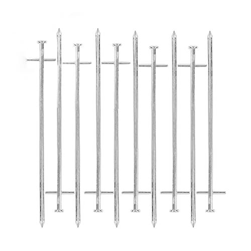 deiwo Zeltheringe Stahl für Harte Böden 10er Set, Silber, 23 cm, Stahl verzinkt, Nagelkopf