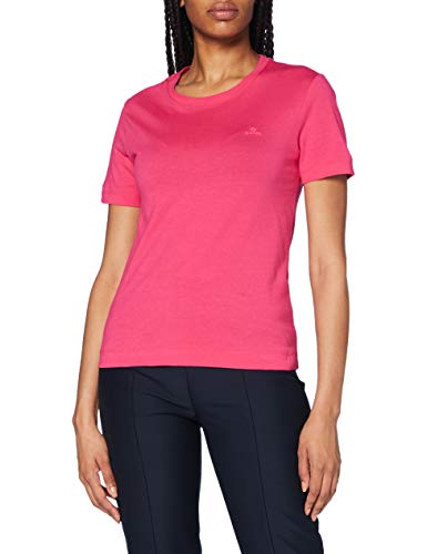 GANT The Original SS T-Shirt Camiseta, Rich Pink, S para Mujer