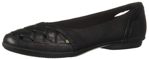 Price comparison product image CLARKS Women's Gracelin Maze Loafer Flat,  Black Leather,  095 M US