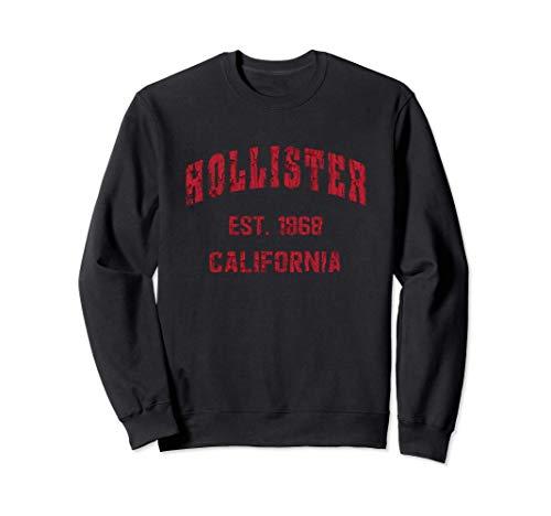 Hollister, California Home Souvenir . EST. 1868 . Red Sudadera