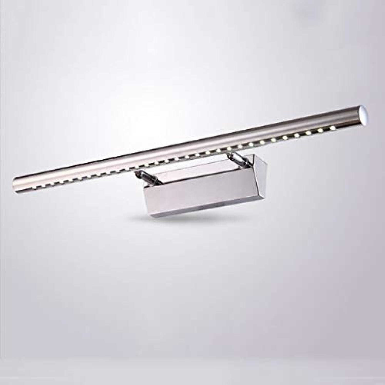 Spiegel vorne Licht Spiegel Licht, LED schlanke minimalistische Edelstahl Spiegelleuchte Bad Hndewaschen wc Kosmetikspiegel Schrankwand (Farbe  warmes Licht-5W 40 cm)