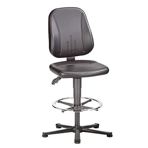 ESD Unitec Arbeitsdrehstuhl, Kunstleder, Höhenverstellung 580-850 mm - Universalstühle Büroeinrichtungen Bürostühle Drehstühle Stühle Schreibtischstühle Bürodrehstühle Bandscheibendrehstühle