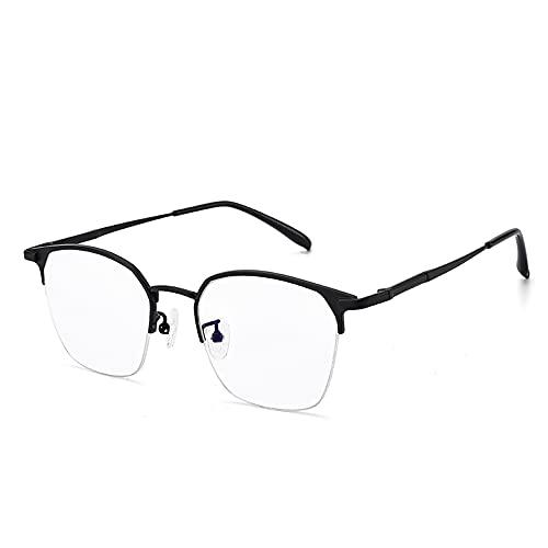 CAOXN Gafas Lectura Al Aire Libre Fotocromáticas Enfoque Múltiple, Lente HD Medio Marco Rectangular Titanio Puro/Dioptría Anti-Ultravioleta +1.0 A +3.0,Negro,+3.00