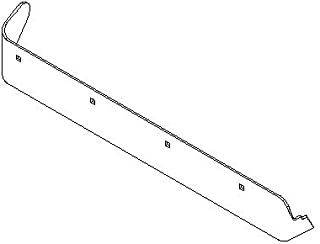 Boss Part # BAR13201-03 - UTV V-Plow 6.6FT V XT Passenger Side Formed Cutting Edge Half