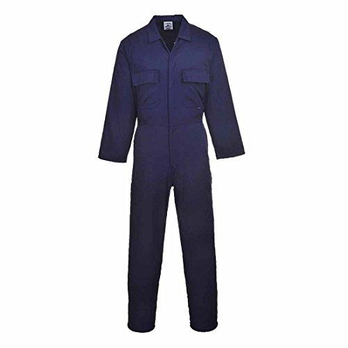 S999NATS Portwest Euro Work Arbeitsoverall aus Baumwoll-Polyester-Mischgewebe, Groß, Größe:Klein, Marineblau.
