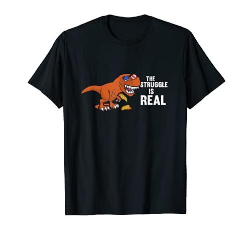 La lucha es real, Trex Funny Tyrannosaurus Dino Camiseta
