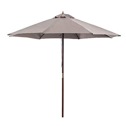 ZXL Parasol de Jardin ombragé de 2,7 m, Grand auvent extérieur de Patio en Aluminium Sun Shade Easy Crank Open UV Protective for Beach/Pool/Patio/Outdoor Shelter Tent, White