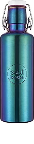 soulbottles Steel 0,6l Utopia • Trinkflasche aus Edelstahl • plastikfrei, nachhaltig, vegan
