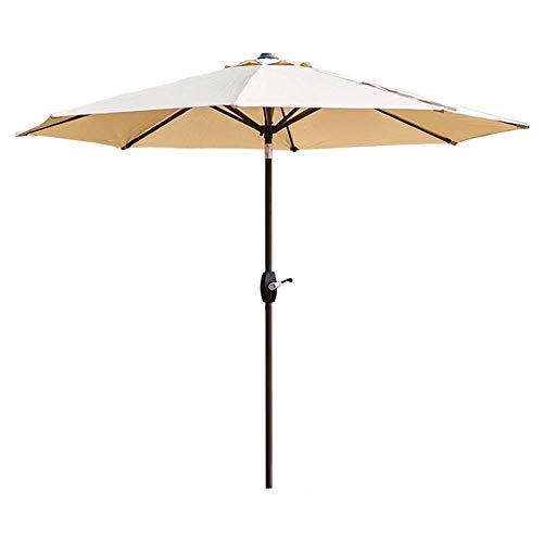 LY88 270cm terras tuintafel paraplu w/tilt aanpassing, perfect voor buiten, strand commerciële evenement markt, camping, zwembad