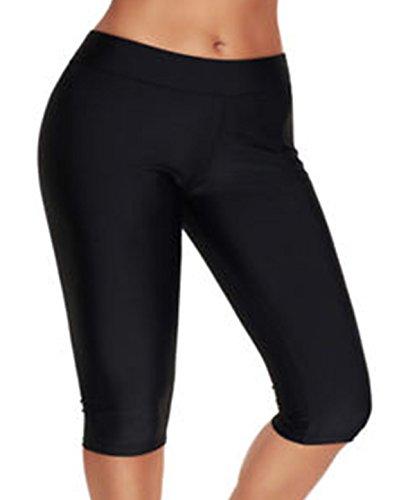 Ecolleciton@Damen Kleidung Shorts Badehose Ausbildung Kurz (4XL EU 48-50, lang kurz)