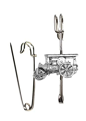 Kiltnadel / Brosche, Motiv Dampfreiniger, PP-T22, Zinn, 7,5 cm