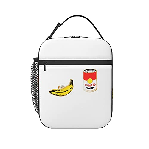 Insulated Lunch Bag for Women Men,Pop Art earrings Insulated Lunch Bag Lunch Box Leakproof Cooler Tote Bag Freezable Lunch Bag with Adjustable Shoulder Strap