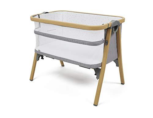 Babylo Nod Bedside Co-Sleeper Crib - Natural Wood and G