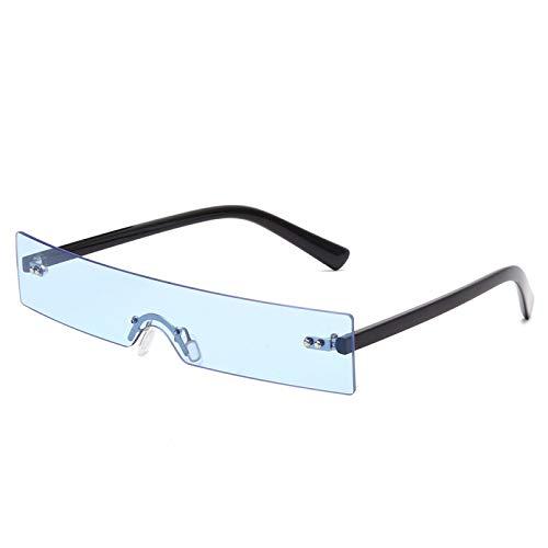SUIBIAN Gafas de Sol rectangulares Moda para Mujer Lente pequeña Personalidad Gafas de Sol UV400 Sombras Gafas