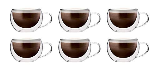 Maxxo Doppelwandige Gläser Cappuccino Set 6X 300 ml Kaffee Thermogläser...