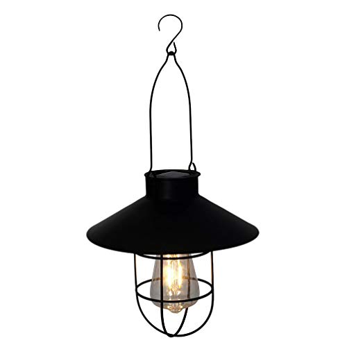 Mobestech Laterne mit Sonnenlicht im Vintage-Stil, aus Metall, dekorativ, wasserdicht, Solarleuchte für Garten und Terrasse