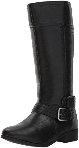 NINE WEST Girls' Sassy TRAN 2 Fashion Boot, Dark Brown Smooth, 13 Medium US Little Kid