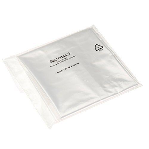 1 Bettensack Maße: 100 x 150 cm, Farbe: transparent, Stärke: 50 my