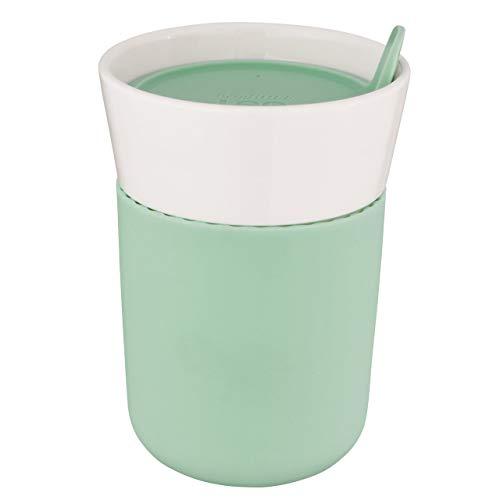 Berghoff 3950123 - Tazza da Viaggio in Porcellana, 0,33 l, Colore: Verde/Bianco