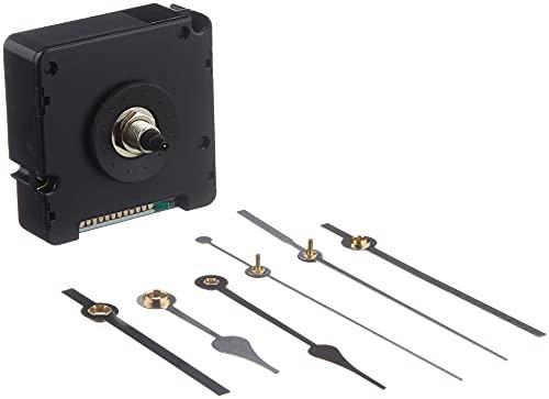 TFA Dostmann Funk-Uhrwerk mit Uhrzeigerset, Uhrwerk für Wanduhr, zum Basteln, Funkuhr, schwarz, 60.3518.01,L 56 x B 37 x H 56 mm