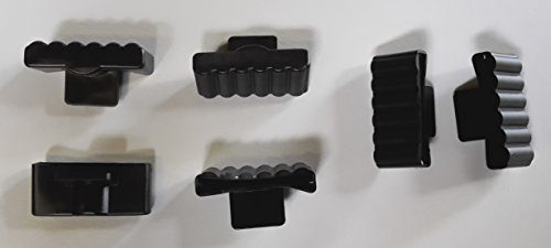 BOSSASHOP.de 10er Paket Kappen zur Befestigung von Leisten im Lattenrost (schwarz, 8x63mm)
