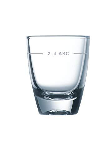 Arcoroc ARC G8340 Gin Schnapsglas, Shotglas, Stamper,35ml, mit Füllstrich bei 2cl, Glas, transparent, 24 Stück