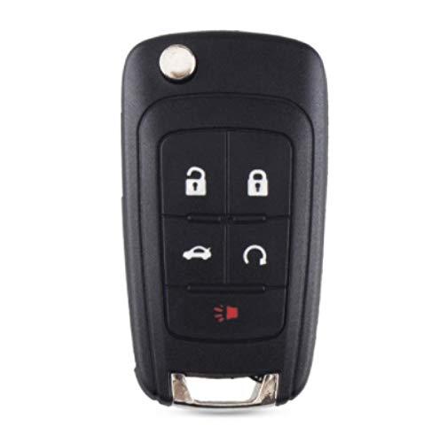 Funda con Tapa Plegable para Llave de Coche remota para Chevrolet Cruze Epica Lova Camaro Impala Aveo para Vauxhall Opel Insignia Astra 5 Botones