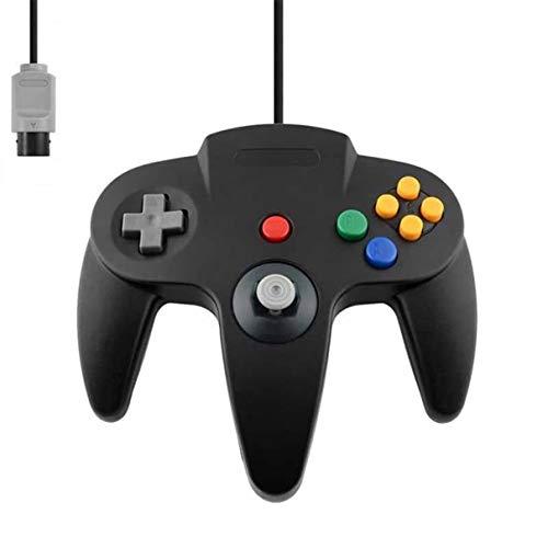 Controller Für Nintendo 64 N64 Schwarz Black Kabelgebunden Gamepad Joypad