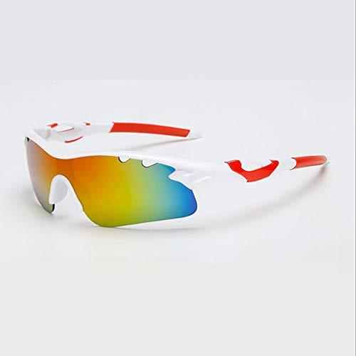 HUIHUAN Radfahren Brille Fahrer Fahren Sonnenbrille Sonnenbrille Flut Menschen Reiten Explosionsgeschützte Brille Nachtsicht Spiegel Sport Spiegel,White