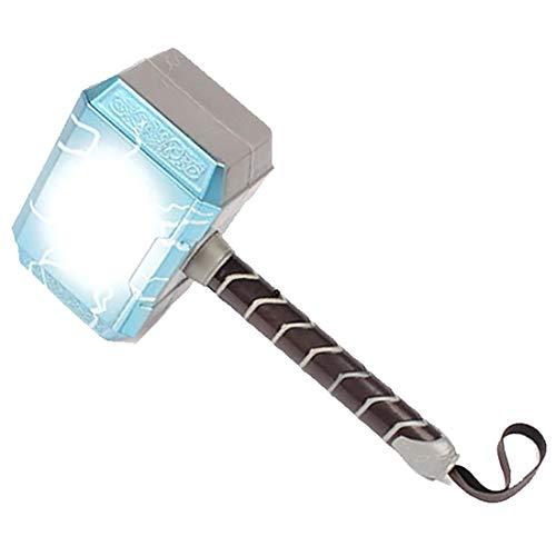 FPTB Thor Hammer Mit LED-Beleuchtung Und So& Marvel Avengers Toys, Th&er Lights Für Halloween Cosplay Geburtstag, PVC Made 28Cm