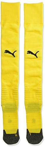 PUMA Men's Team LIGA Socks, Cyber Yellowpuma Black, 10-12