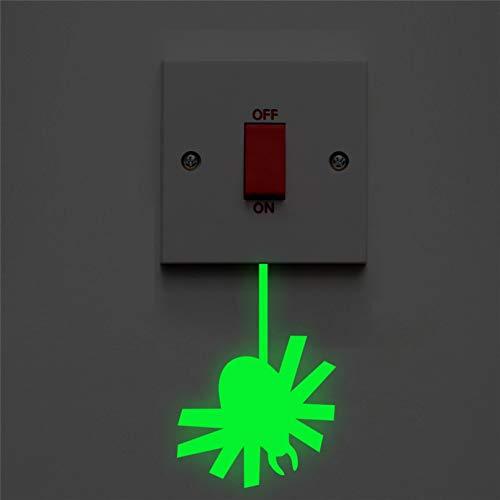 GEYKY Spider Luminous Switch Panel Sticker Glow In The Dark Fluorescent Wall Decals Kids Rooms Home Decor Vinyl Mural Art