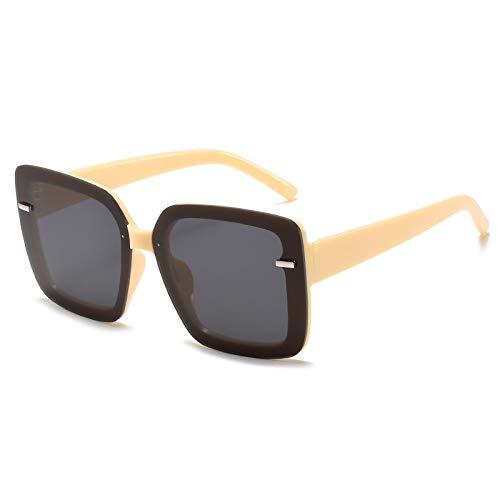 Sunglasses Gafas de Sol de Moda Gafas De Sol Cuadradas De Gran Tamaño para Mujer, Gafas De Sol para Conducir, Diseñador