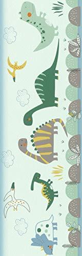 Rasch behang Rasch Borten papierboord (kindvriendelijk) groen 5,00 m x 0,17 m Bambino XVIII 248852 behang