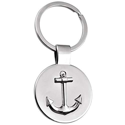 SILBERKANNE Schlüsselanhänger mit Anker 8x3,5 cm Silber Plated Premium versilbert