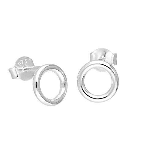 iszie Jewelry - Pendientes pequeños minimalistas de plata de ley