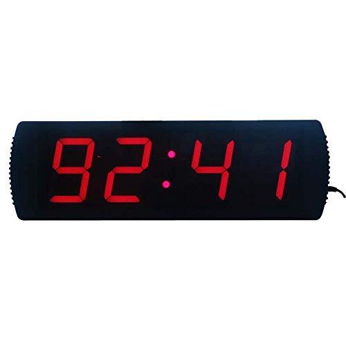 KEKEYANG Reloj de pared de, Grande El tiempo de entrenamiento digital LED multi funcional reloj temporizador de cuenta atrás Cronómetro gimnasia con los despertadores remoto electrónico (Color: Negro,
