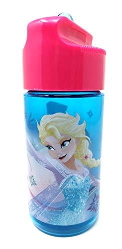 Theonoi Kinder Tritan Trinkflasche Wasserflasche wählbar Paw Mickey Minnie Avengers Frozen Spiderman BPA-frei auslaufsicher leicht bruchsicher Schule Sport Fitness (Frozen)