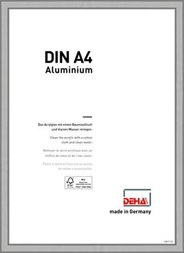 DEHA Aluminium Bilderrahmen Boston, 21x29,7 cm (A4), Silber Matt