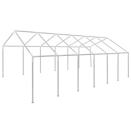 Goliraya Estructura de Carpa de Fiesta para jardín Acero 12x6 m (Esta es la Estructura de la Carpa únicamente)