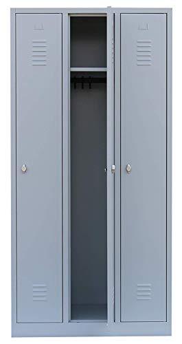 Lüllmann Spind Spint 3er Umkleide Stahl Kleiderschränke Gaderobenschrank 510130 kompl. montiert und verschweißt