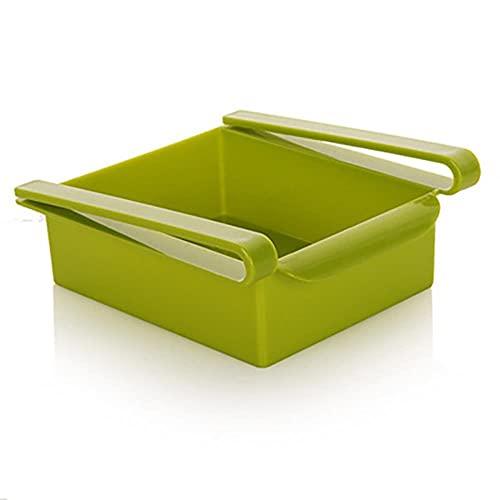 TEEAYMM Deslice la cocina, nevera, congelador, estante de almacenamiento, ahorro de espacio para refigerador, cajón, estante, fruta, bocadillo, contenedor
