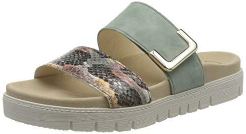 Gabor Shoes Damen Jollys-43.740 Pantoletten, Grün (Khaki-Kombi 58), 42 EU